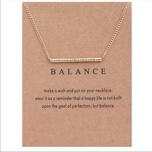 Balance dainty necklace